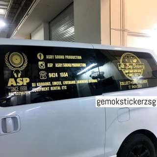 COMPANY VAN DECAL