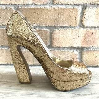 Chunky Glitter Platform Heels (size 37)