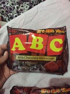 ABC milk chocolete (Lotte)