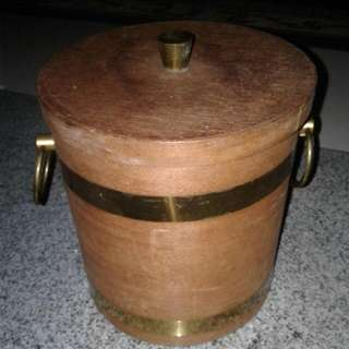 Antique Wooden Ice Bucket