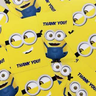 Minions Party Thank You Gift Tags
