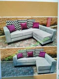 Promo tanpa dp sofa L putus hanya bayar admin 199 rb