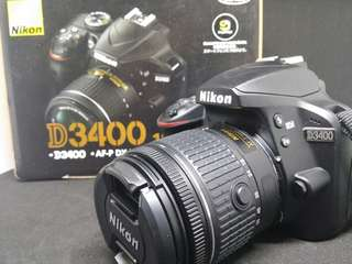 Nikon D3400 with 18-55mm