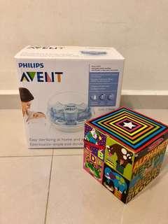 Avent microwave sterilizer + free toy
