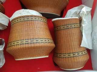 Hand make Bamboo Coffee Set