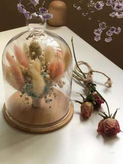 Dried Flowers in Bell Jar #1