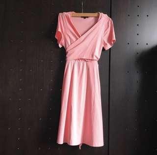 Jump Eat Cry Nursing Wrap Dress