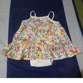 Preloved Baby Onesie Dress - Chaps - Size 3M