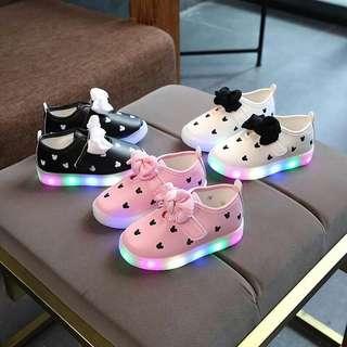 預購  新款閃燈兒童米奇學步鞋