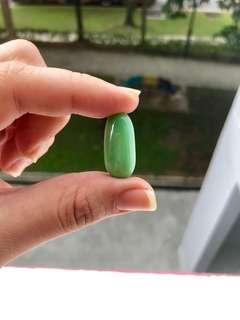 Milky green glass leklAi capsule