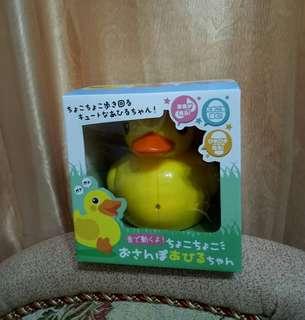 音樂有聲可動鴨子 燈光音樂聲控玩具 拍手聲控會下蛋黃色鴨子(附電池) 親子互動趣味教育玩具