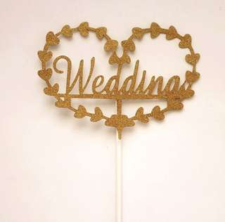 $2 Mailed Birthday Cake Topper ( Wedding sign!)