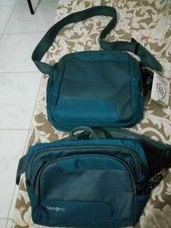 Authentic Samsonite sling bag and belt bag