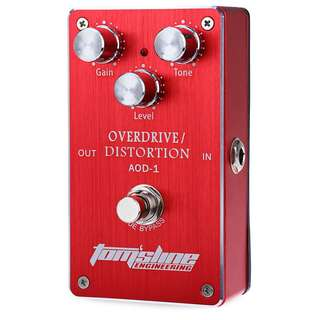 Aroma Tomsline AOD-1 Metal Electric Guitar Effect Pedal Overdrive Distortion True Bypass Design