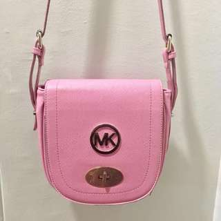 MICHAEL KORS AUTHENTIC Pink Leather Sling Bag