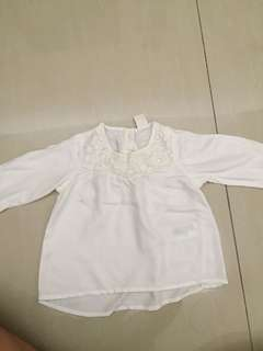 White Blouse H&M baby girl