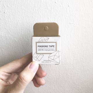 [INSTOCKS] Gold geometric washi tape