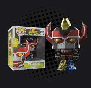 "8496619f489 FUNKO POP - MIGHTY MORPHIN POWER RANGERS - MEGAZORD 6"" SUPER SIZED METALLIC"