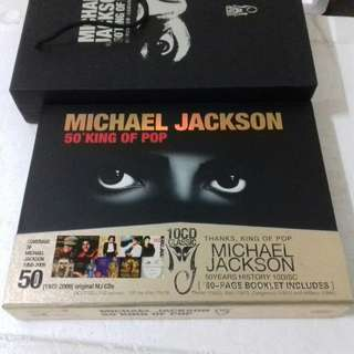 Michael Jackson 50 King of Pop very rare China Pressing 10 CD Album new Complete set Thriller Bad Dangerous Invincible History