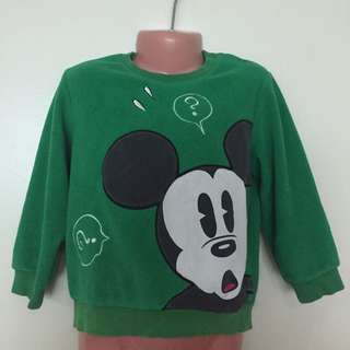 Disney Original Mickey Mouse Sweater Pullover 3T