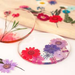 Mothers' Day Flowers Forever resin coaster