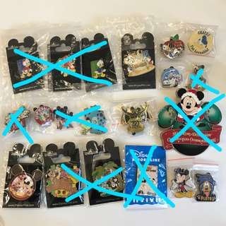 迪士尼交換徽章 Disney Pin Trading / 香港迪士尼貼紙 / Postcard