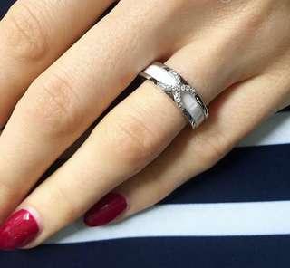 Black or White Ceramic Ring!😉s925