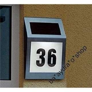 1629732太陽能門牌燈 led燈 太陽能門牌燈 不鏽鋼光含數字和字母 Solar door light