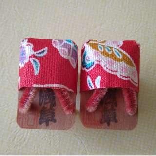 Japan Tiny Mini Clogs Geta Slippers 日本のミニ下駄 日本傳統的迷你木屐
