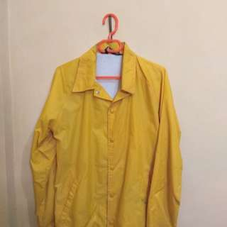 Coach windbraker jacket Kuning Trendi sporty made in USA