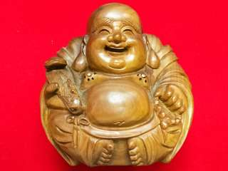 Green sandalwood laughing buddha. 绿檀弥勒佛。