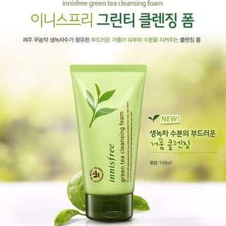 Innisfree Green Tea Cleansing Foam 綠茶清爽保濕潔面泡沫150ml