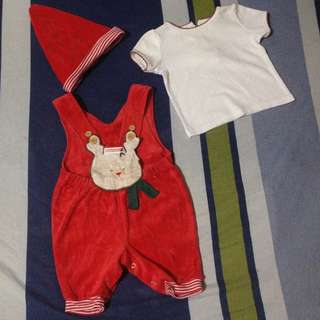 Preloved Baby Christmas Outfit - fits 12 months