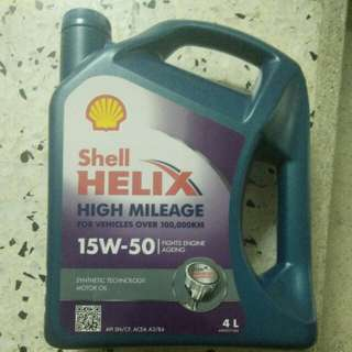 Shell Helix Engine Oil(High Mileage) 4Litre