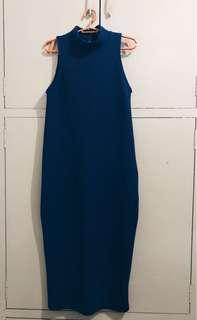 Calf-length Blue Dress - Preloved 💛