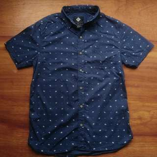 Cotton On Short Sleeve Polo Paisley Spot w/ Tags
