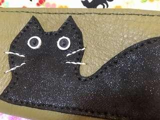 原創純手工【喵星人。手作】真皮 皮革 貓咪可爱萌 筆袋 文具收納包