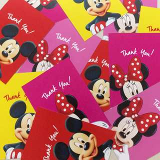 Mickey Minnie Party Thank You Favour Tags