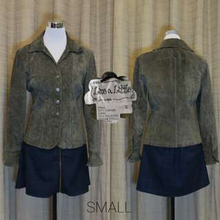 LEATHER JACKET  (MILITARY GREEN)