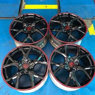 "Black Honda 19"" fk2 type R rims"