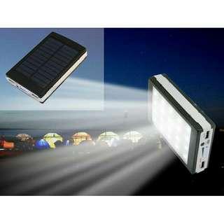Power bank solar with led lights 50,000mah