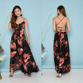 (PO) Colette Floral Maxi Dress