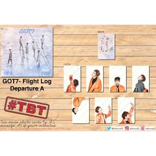 GOT7 FLIGHT LOG: DEPARTURE UNOFFICIAL PHOTO CARDS