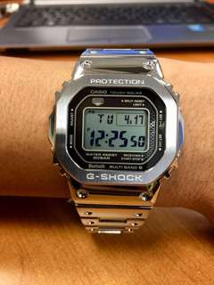 Casio G-Shock Full Metal Stainless Steel Silver Watch GMW-B5000D-1