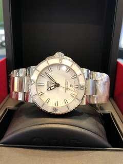 Oris Aquis white ceramic watch