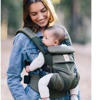 Ergobaby Omni 360 Cool Air Mesh Baby Carrier-Khaki Green