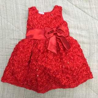 Ashley & Kaye Red dress #baby30