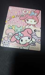 [LAST SET] My Melody Thinking Of Strawberry EZ-Link Card + My Melody With Friends EZ-Link Card Set