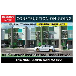 the  Nest Oasis Townhouse for sale LOW DP @ pre selling stage