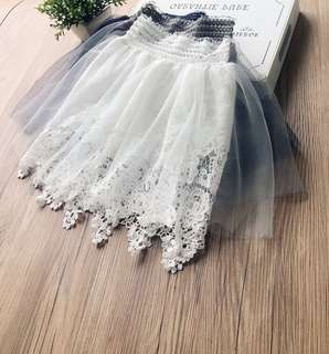Female baby gauze lace skirt